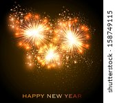 happy new year celebration...   Shutterstock .eps vector #158749115