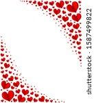 rectangular frame for valentine'...   Shutterstock .eps vector #1587499822