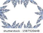 tropical blue leaves design ... | Shutterstock .eps vector #1587520648