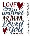 Hand Lettering Love One Another ...