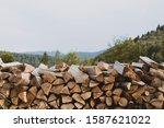 wood timber background with...   Shutterstock . vector #1587621022