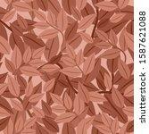 seamless pattern of brown... | Shutterstock .eps vector #1587621088