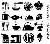 food icons set  vector format | Shutterstock .eps vector #158765222