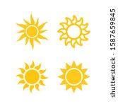 sun icon set. isolated vector... | Shutterstock .eps vector #1587659845