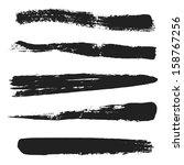 vector black grunge brushes | Shutterstock .eps vector #158767256