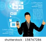 man with smartphone. vector | Shutterstock .eps vector #158767286