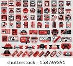 vector set  tickets in...   Shutterstock .eps vector #158769395