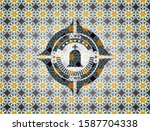 tombstone icon inside arabesque ... | Shutterstock .eps vector #1587704338