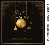 merry christmas design with... | Shutterstock .eps vector #1587710845