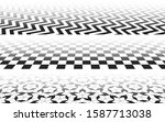 perspectives with checkered ...   Shutterstock .eps vector #1587713038