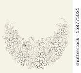 hand drawn frame of grape vines.... | Shutterstock . vector #158775035