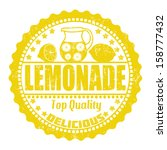 lemonade grunge rubber stamp on ... | Shutterstock .eps vector #158777432