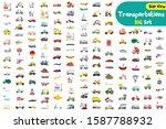 big set of cute cartoon... | Shutterstock .eps vector #1587788932