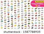 big set of cute cartoon...   Shutterstock .eps vector #1587788935
