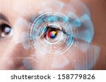 future woman with cyber... | Shutterstock . vector #158779826
