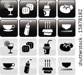 vector of symbols and icons in...