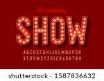 broadway style retro light bulb ... | Shutterstock .eps vector #1587836632