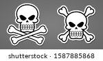 pirate symbol death skull with... | Shutterstock .eps vector #1587885868