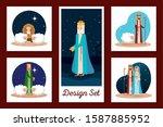 designs set of manger... | Shutterstock .eps vector #1587885952