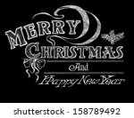chalkboard holiday design  merry | Shutterstock . vector #158789492