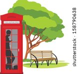 Telephone Box In The Park....