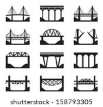 various types of bridges  ... | Shutterstock .eps vector #158793305
