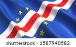 the flag of the cape verde... | Shutterstock . vector #1587940582