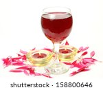 wine and candles  | Shutterstock . vector #158800646