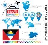 antigua and barbuda. flag....   Shutterstock .eps vector #158806856