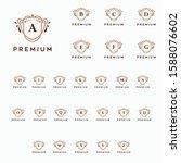 luxury premium a z initial logo ...   Shutterstock .eps vector #1588076602