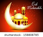 abstract eid background vector... | Shutterstock .eps vector #158808785