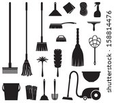 a set of equipment for house... | Shutterstock .eps vector #158814476