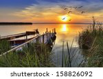 pier between plants | Shutterstock . vector #158826092
