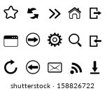 web browser tools icon | Shutterstock .eps vector #158826722