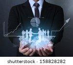 businessman with financial... | Shutterstock . vector #158828282