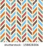 seamless grunge vector chevron... | Shutterstock .eps vector #158828306