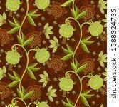 graceful floral ornament....   Shutterstock .eps vector #1588324735