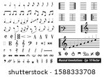 set of musical annotations or...   Shutterstock .eps vector #1588333708