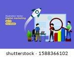 illustration vector digital... | Shutterstock .eps vector #1588366102