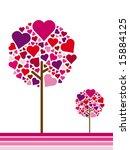 seasonal tree spring | Shutterstock .eps vector #15884125