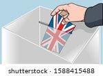 illustration of man inserting... | Shutterstock .eps vector #1588415488