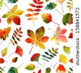 seamless watercolor autumn...   Shutterstock . vector #158841572