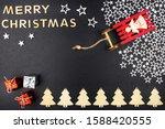 the inscription merry christmas ... | Shutterstock . vector #1588420555