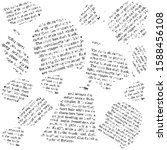 newspaper pieces  black white...   Shutterstock .eps vector #1588456108