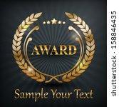 gold laurel wreath emblem award ...   Shutterstock .eps vector #158846435