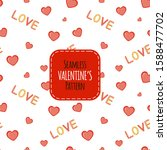 valentine's day template for... | Shutterstock .eps vector #1588477702