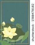 the green background of white... | Shutterstock .eps vector #1588478182