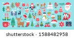 christmas holiday cute elements ... | Shutterstock .eps vector #1588482958