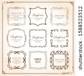 beautiful luxury frame design... | Shutterstock .eps vector #1588523512