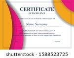 creative certificate of... | Shutterstock .eps vector #1588523725